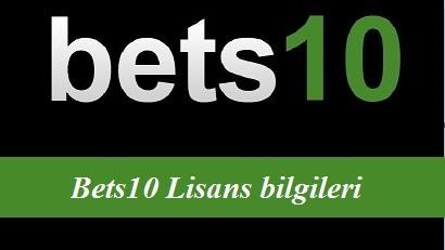 Bets10 Lisans bilgileri