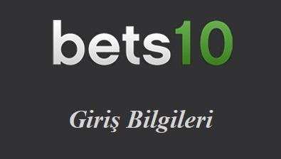 Bets10 Giriş Bilgileri